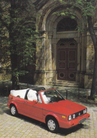 VW Golf Cabriolet by Karmann,  A6-size postcard, early 1990s, German