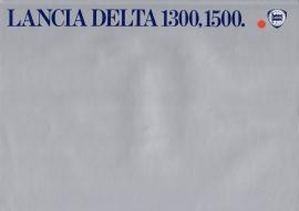 Delta 1300/1500 brochure, A4-size, 8 pages, about 1979, Dutch language