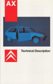 AZ (technical description) brochure, 20 pages, 8/1986, English language