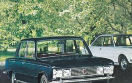 125 Berlina & 124 Sport coupé, standard size, Italian postcard, undated, about 1965