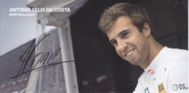DTM driver Antonio Felix da Costa, oblong autogram card, 2015, German/English
