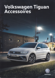 Tiguan accessories brochure, A4-size, 4 pages, 2018, Dutch language