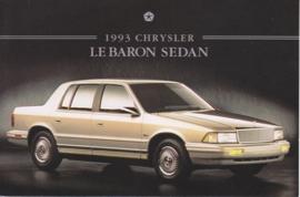 Le Baron Sedan, US postcard, continental size, 1993