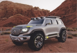 SUV concept, A6-size postcard, Mercedes-Fan World # 08/2012, German