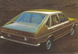 Passat 4-door Hatchback postcard,  A6-size, about 1973, # 4