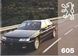 605 Sedan brochure, 28 + 28 pages, A4-size, 1994, Dutch language (Belgium)