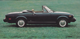 124 Sport Spider, US-issued postcard, size 20,7 x 10 cm, 1977