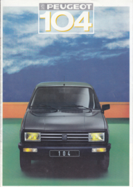 104 GLS/Z/Style Z brochure, 12 pages, A4-size, 1987, French language