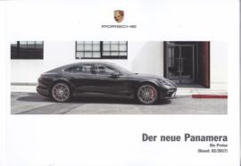 Panamera pricelist brochure, 132 pages, 02/2017, German