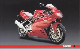 Ducati 800, continental size postcard, English language