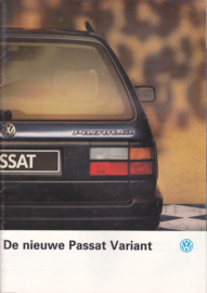 Passat Variant brochure, 28 pages,  A4-size, Dutch language, 01/1989