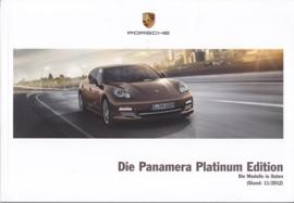 Panamera Platinum Edition pricelist, 94 pages, 11/2012, German language