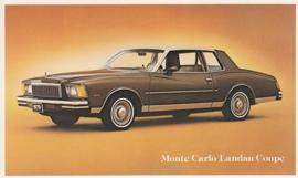 Monte Carlo Landau Coupe, US postcard, standard size, 1979