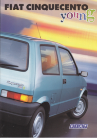 Cinquecento Young brochure, 4 pages (A4-size), 12/1996, Dutch language