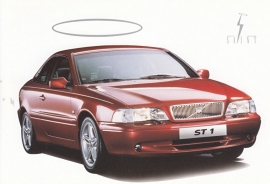 "C70 Coupe postcard, movie ""The Saint"", 1990s, English"