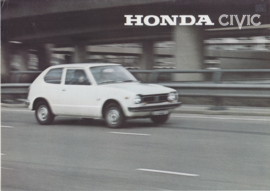 Civic 1200/1500 Hatchback model, 4 page brochure, about 1977, Dutch