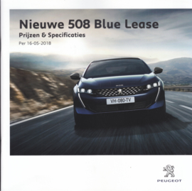 508 Blue Lease pricelist brochure, 16 pages, 05/2018,  Dutch language