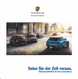 Macan winter wheel sets folder, 4 pages, 2015, German