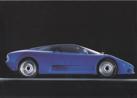 Bugatti EB 110 GT leaflet, 2 pages (A4), about 1993, English language