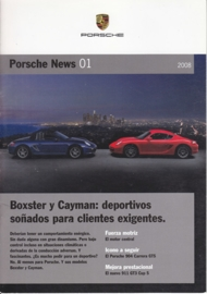 News 01/2008 with Boxster & Cayman, 12 pages, 05/08, Spanish (!) language
