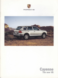 Cayenne V6 brochure 2004, 18 pages, MKT 001 00019 04, USA, English