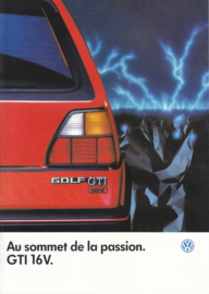 Golf GTI 16V brochure, 12 pages,  A4-size, French language, 01/1986