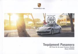 Panamera Tequipment pricelist brochure, 58 pages, 09/2016, German