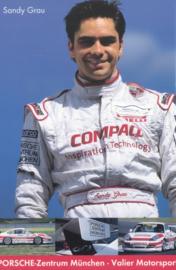 racing driver Sandy Grau,  A6 postcard, about 2002,  German language