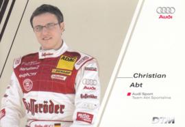DTM racing driver Christian Abt, unsigned postcard 2004 season, German language