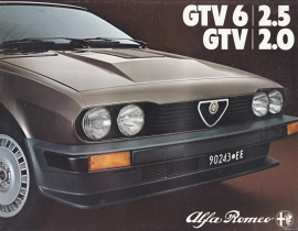 GTV 2.0 & 6/2.5 brochure, 8 pages, 01/1981, # 1123, Dutch