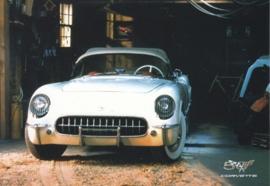Corvette C1 series 1953-1962, A6 size postcard, 50 years of Corvette, 2003