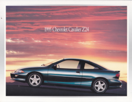 Cavalier Z24, stiff leaflet, 1995, English language, USA