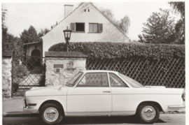 700 Coupé 2 cyl., DIN A6-size photo postcard, 1959-65, 4 languages