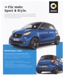 Forfour Brabus Sport package leaflet,  2 pages, 01/2016, German language