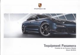 Panamera Tequipment pricelist, 88 pages, 06/2014, German