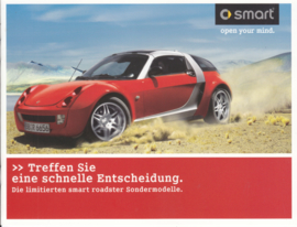 Roadster special editions brochure, 12 pages, about 2007, German language