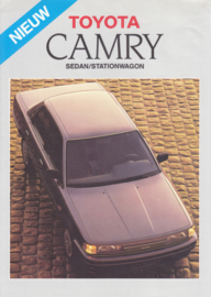 Camry Sedan/Stationwagon brochure, 4 pages, 1987, Dutch language