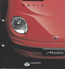 Matiz brochure,  8 pages,  06/1998, Dutch language