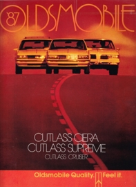 Cutlass Ciera/Supreme/Cruiser brochure 1987, 36 large pages, 08/1986, USA