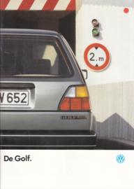 Golf brochure, 24 pages,  A4-size, Dutch language, 08/1986
