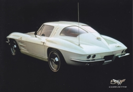 Corvette C2 Sting Ray 1963-1967, A6 size postcard, 50 years of Corvette, 2003