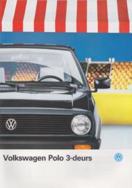 Polo 3-door brochure, A4-size, 20 pages, 08/1988, Dutch language