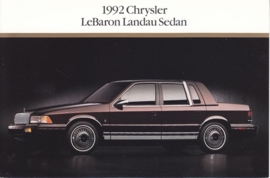 Le Baron Landau Sedan, US postcard, continental size, 1992