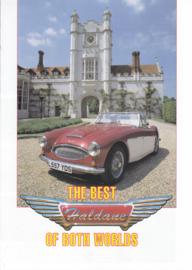 Haldane Austin-Healey replica brochure, 4 pages, German & Dutch language, nice