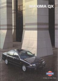 Maxima QX Sedan brochure, 36 pages, 9/1997, German language