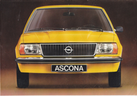 Ascona 2/4-Door brochure, 4 pages, 07/1975, German language