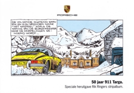 911 Targa 50 years, strip album, A6-size postcard, Dutch, 2014