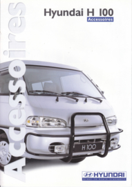 H100 Van accessories brochure, 6 pages, about 1998, Dutch language