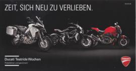 Ducati Testride weeks, large postcard (23,5 x 12,5 cm), German language, 2016