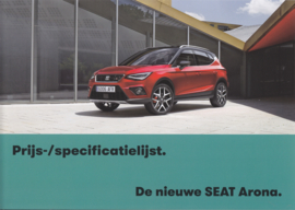 Arona new model pricelist brochure, 4 pages, 09/2017, Dutch language